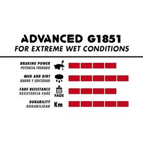 GALFER BIKE Advanced Bremsbeläge Shimano XTR (-2018)/XT (2014-)/BR-M615/BR-M7000/BR-M8000/M6000